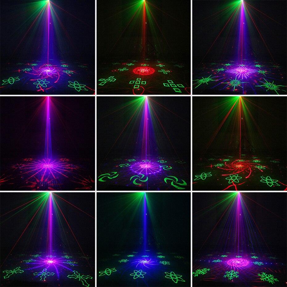 Инопланетный пульт 128 узоры RGB DJ лазерный проектор сценический светильник ing Эффект диско клуб Рождество вечерние праздничное шоу светильни... - 5