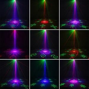 Image 5 - Alienígena remoto 128 padrões rgb dj projetor laser efeito de iluminação de palco disco club festa natal feriado mostrar luz com 3 w azul led
