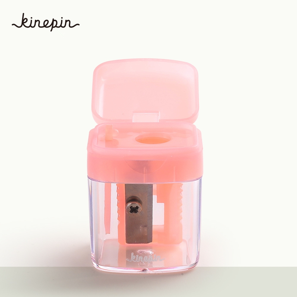 1pc for sharpening eyebrow+eye+lip liner pencil Single Hole Mini sleeve Pencil Sharpener with container blacklead Makeup Tools