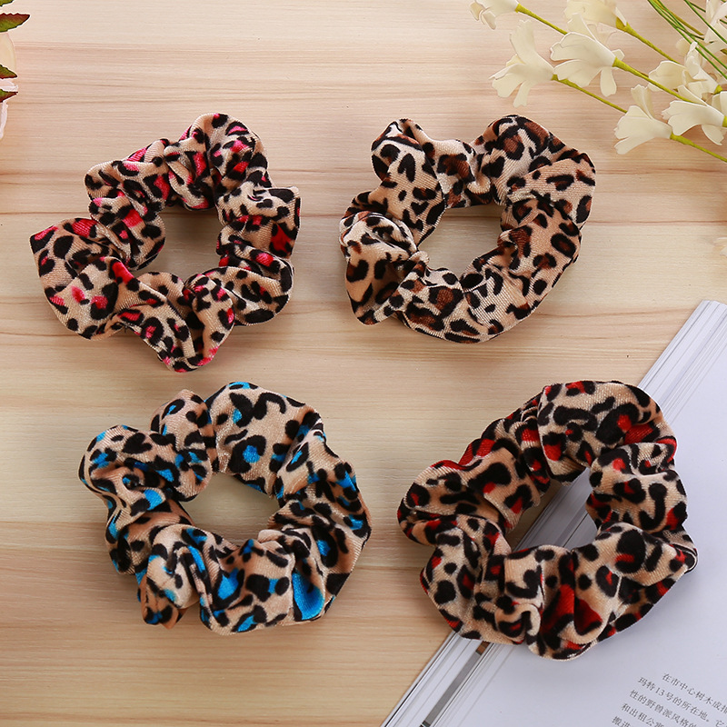 New Women Leopard Elastic Hair Bands Ponytail Holder Headbands Tie Hair Rubber Bands Lady Hair Ropes Elegant Hair Accessories