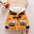 Мода Зима мальчиков Пальто И Пиджаки Детская Зима Теплая Животных Слоны Теплая Куртка Мальчики девочки Моды теплая одежда