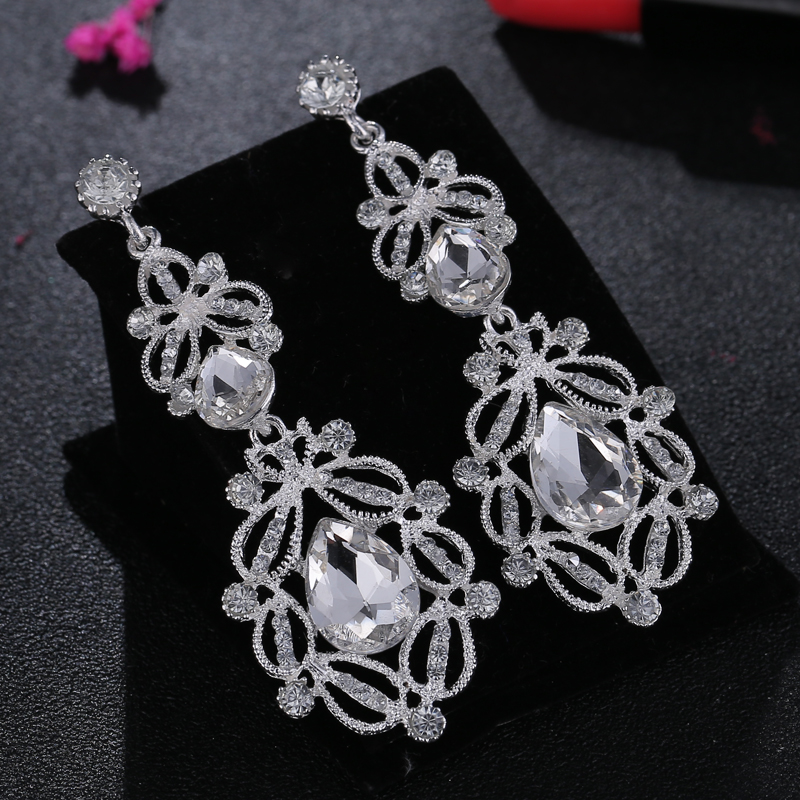 Bohopan Summer Women Luxury Dangle Earrings Charming Shine Rhinestone Drop Earrings Hot Selling Female Earrings Fashion Jewelry