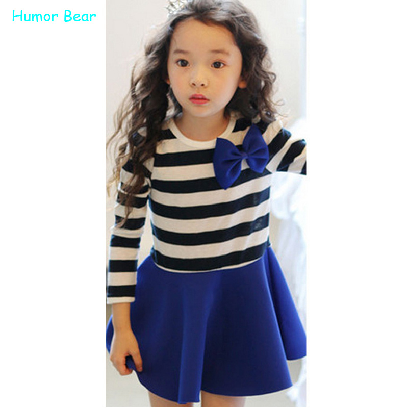 Humor Bear NEW year casual dress children clothing girls polka dot dress kids clothes girls princess dress