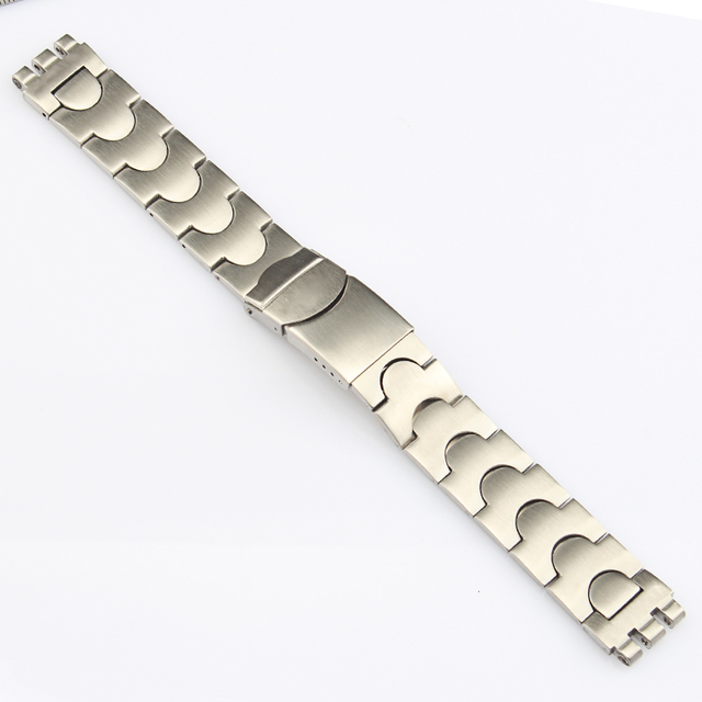 17mm 20MM High Quality Stainless Steel Watchbands For Swatch Watch Strap Band YL