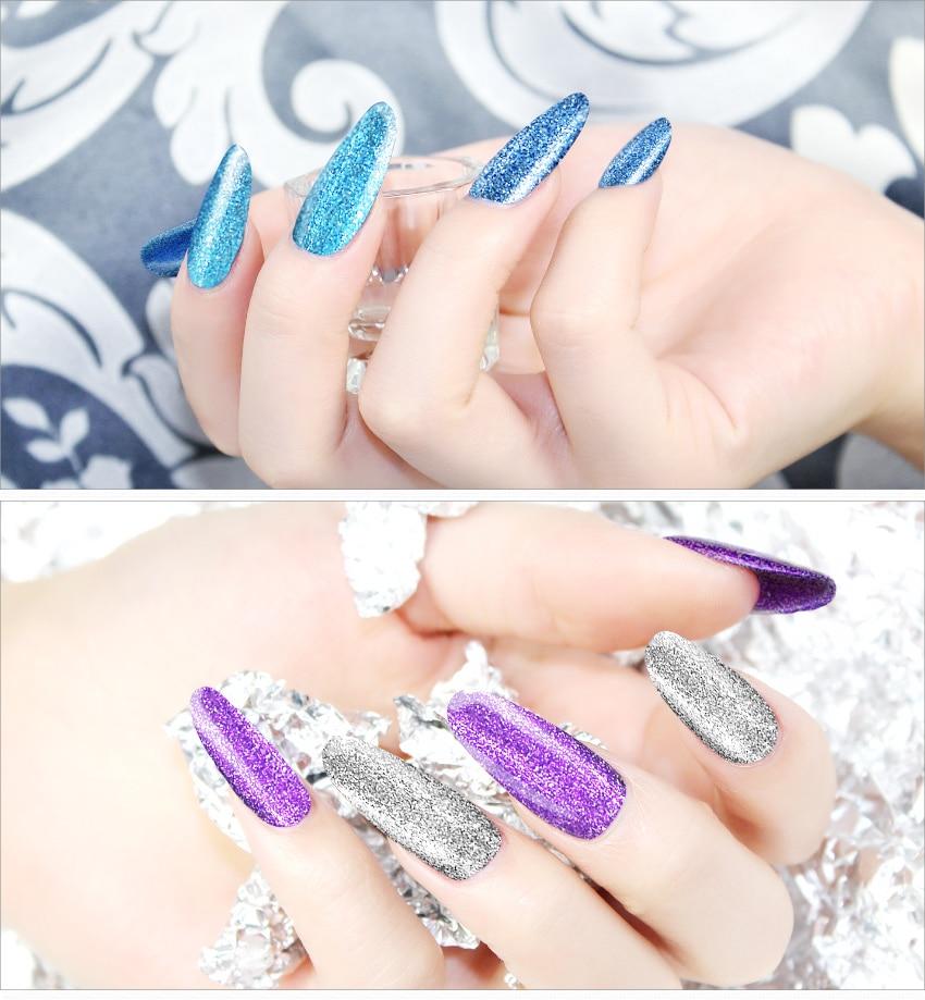 ₩KADS New Arrival Platinum Nail Gel Polish Soak Off Diamond Nail Gel ...