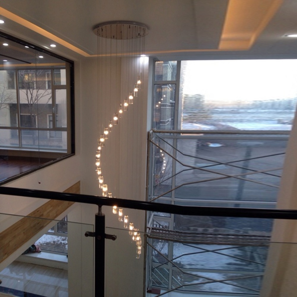 Led indoor stair lighting fixtures crystal chandelier lighting long led indoor stair lighting fixtures crystal chandelier lighting long crystal chandelier modern staircase chandeliers dining room in chandeliers from lights aloadofball Image collections