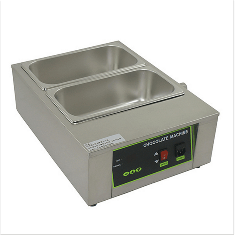 Water Heating 2 Cylinder Stainless Steel Electric Melting Chocolate Furnace Machine Chocolate Melting Stove Pot For Commercial pro skit mt 1210 2 0 lcd digital multimeter blue deep grey 1 x 9v battery page 5