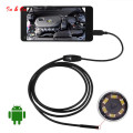 2M 7mm Android Endoscope Waterproof Snake Borescope USB Inspection Camera