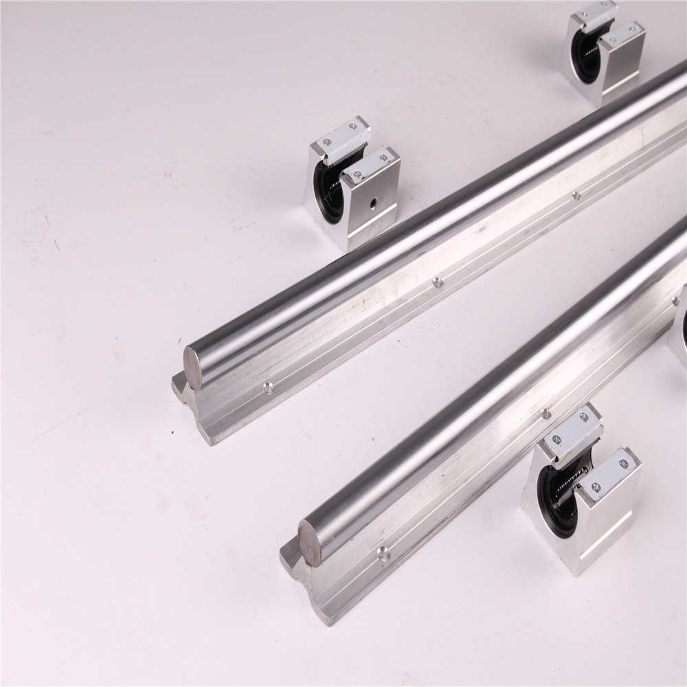 Image 2 - 2pcs SBR20 200 2000mm Linear Guide Rail and 4pcs SBR20UU Linear Bearing Blocks for CNC parts 20mm Linear Rail-in Linear Guides from Home Improvement