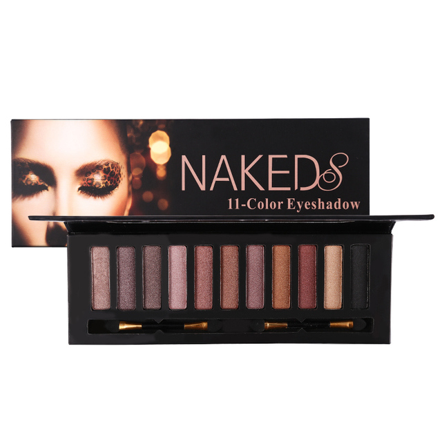 Новый бренд Professional Eye Makeup 11 цветов Shimmer Eyeshadow Палетка с дымчатыми оттенками тени для век Make Up Shadow