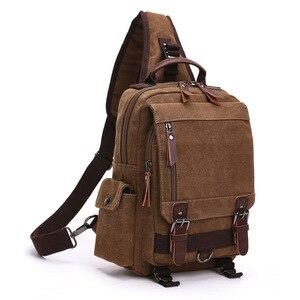 Image 2 - Scione High Quality Men Chest Bag Casual Travel Handbag Messenger Bags Unisex Female Crossbody Shoulder Bag Small bolsas mujer