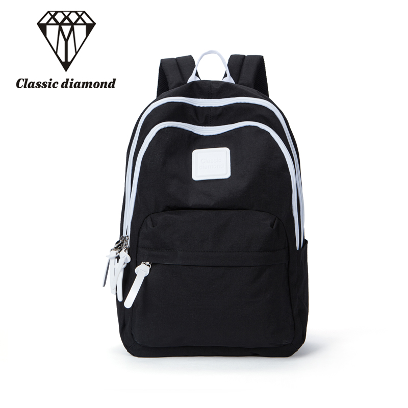 2018 New Women And Men Backpacks Waterproof Daily Backpack Casual Nylon School Bags For Teenagers Girls Ladies Black Travel Bags 14 15 15 6 inch flax linen laptop notebook backpack bags case school backpack for travel shopping climbing men women