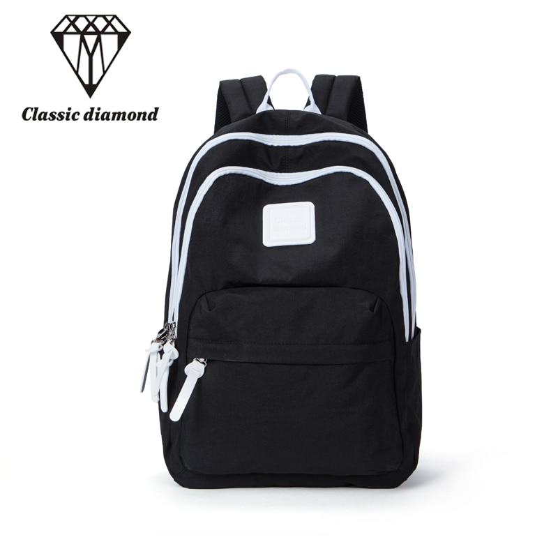 2018 New Women And Men Backpacks Waterproof Daily Backpack Casual Nylon School Bags For Teenagers Girls Ladies Black Travel Bags