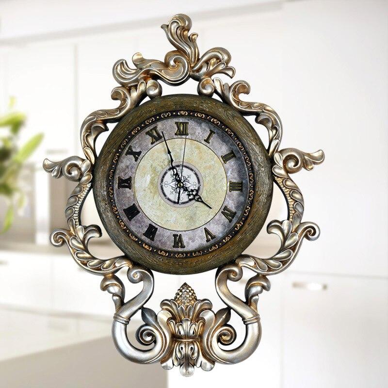 Livraison gratuite décor à la maison moderne horloges murales résine Art personnalisé horloge pas cher salon horloge