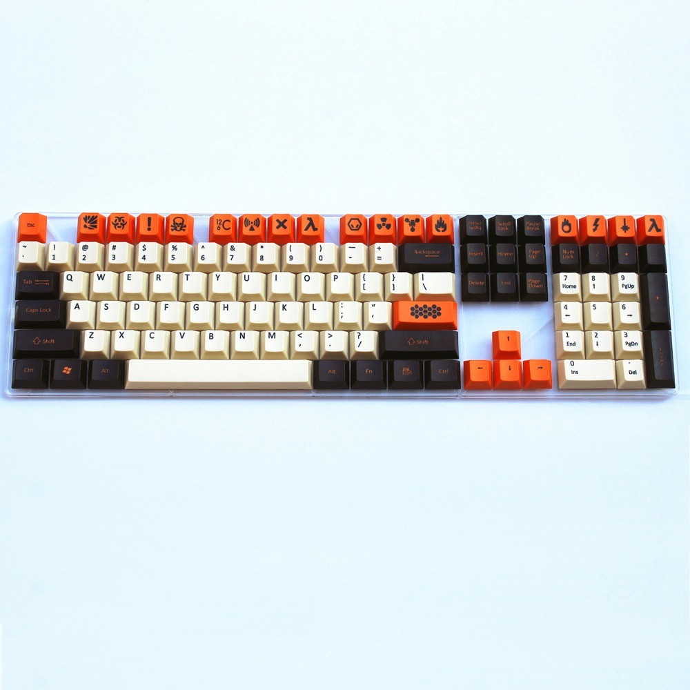 Carbon colour 108/125 PBT keycap cherry profile Dye-Sublimated  MX switch For cherry/NOPPOO/Flick mechanical keyboard keycap клавиатура asus strix tactic pro cherry mx black black usb 90yh0081 b2ra00