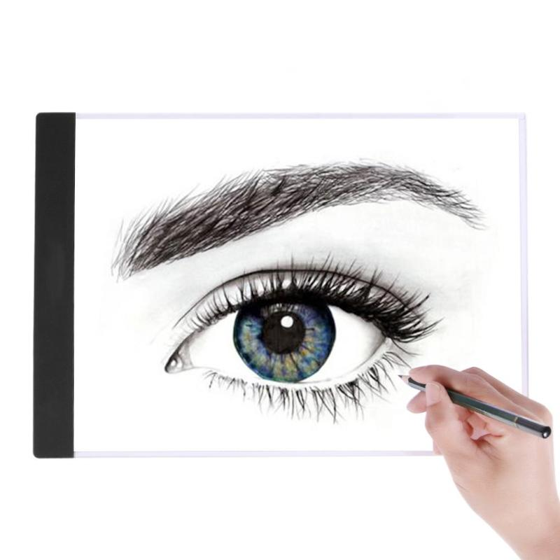A4 LED Writing Painting Light Box Tracing Board Copy Pads Drawing Tablet Artcraft A4 Copy Table Double LED lamp Board m way 35x23x0 52cm ultra thin pencil drawing table graphics tablet a4 led copy adjustable brightness tracing copyboard