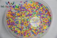 Mix Neon Colors Solvent Resistant Butterfly Shape Glitter For Nail Art Polish And DIY Decoration 1pack