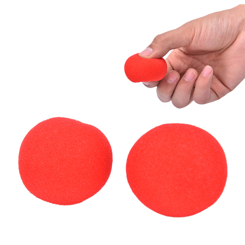 1pcs Finger Magic Props Soft Red Sponge Ball Close-up Street Classical Illusion Stage Comedy Tricks 4.5cm
