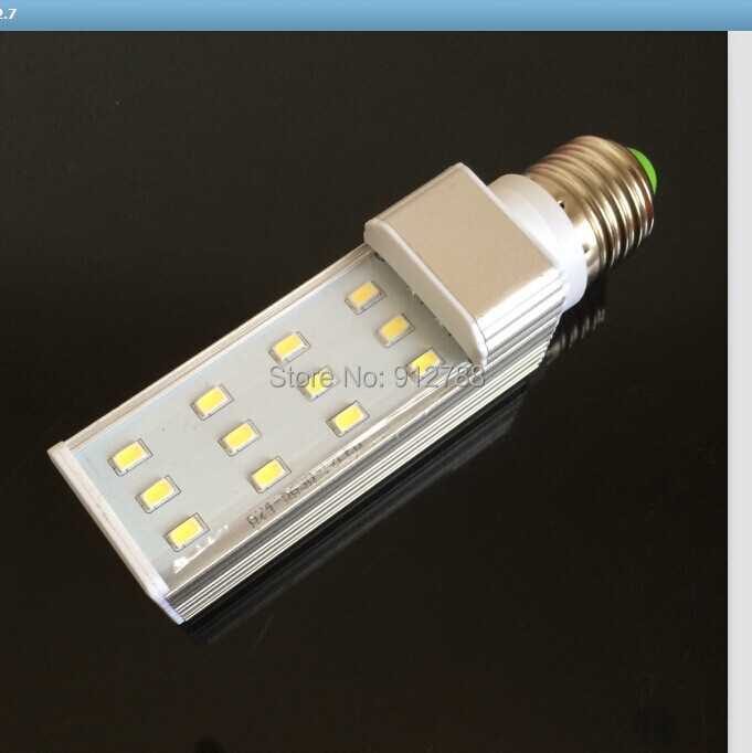 2014 New production High Power 7W 12led E27/G24/G23 PL LED Light AC85-265V  Cold/ Warm White 3014SMD Energy Saving Lamp