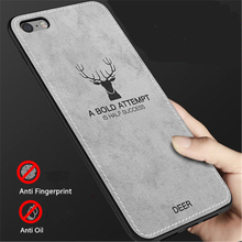 For iPhone 5 5s se Cloth Texture Case For iPhone 5  SE 5S 4'' Embossed Deer Pattern Protector Back Cover 1Pcs