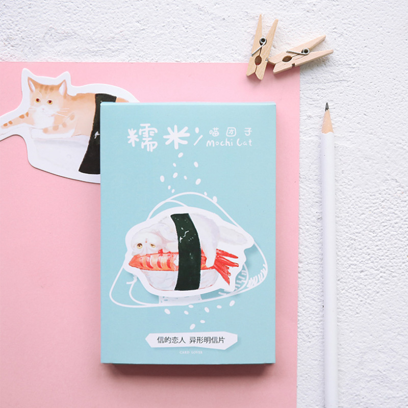30 pcs/lot Japanese style Novelty Heteromorphism Sushi cat postcard greeting card christmas card birthday card gift cards 30 pcs lot novelty yard cat postcard cute animal heteromorphism greeting card christmas card birthday message card gift cards