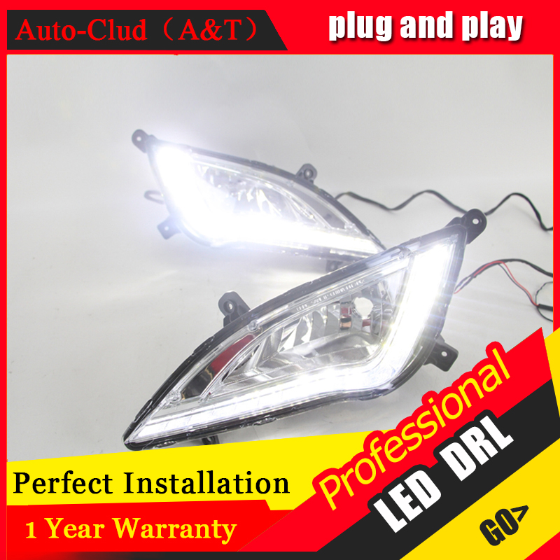 Auto Clud car styling For 2015 Hyundai avante LED DRL avante led fog lamps daytime running light High brightness guide LED DRL daytime running lights car styling for h onda c ivic 2011 2015 auto drl fog lamps