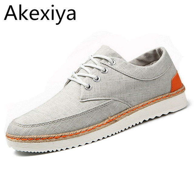 Akexiya Spring & Autumn Men Fashion Outdoor Shoes Eu 39-44 Top Quality Simple Design Casual Lace-up Shoes Blue / Grey / Beige