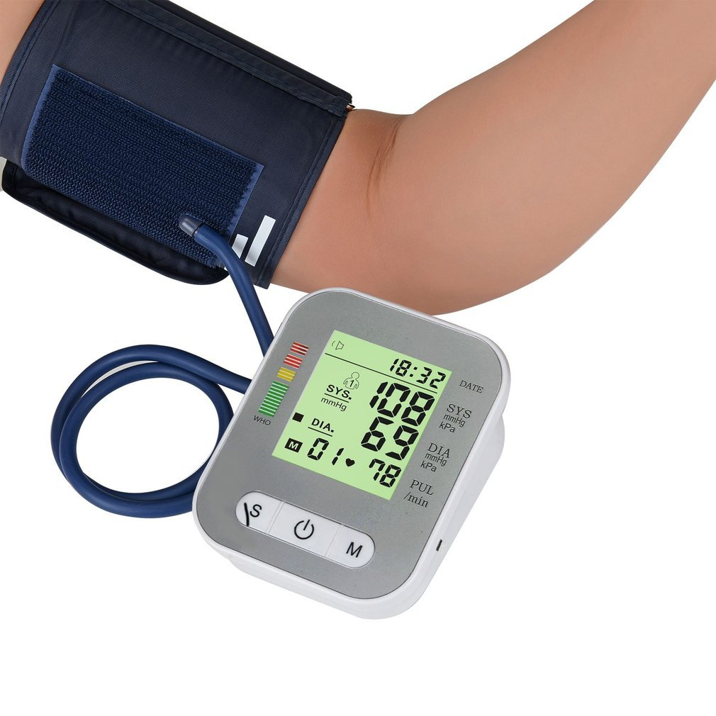 Arm Style Blood Pressure Monitor Full-automatic Electric Sphygmomanometer Pulse Heart Rate Monitor Health Care Supply(China)