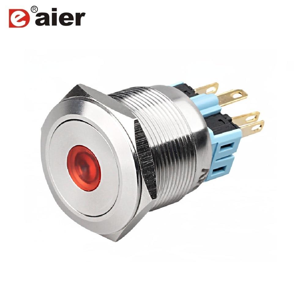 Aliexpresscom Acquista 20Pz Gq25F 11Dem 25Mm Interruttore a pulsante momentaneo a 12 volt da Fornitori Push Push affidabili su Yueqing Daier Electron Store-9120