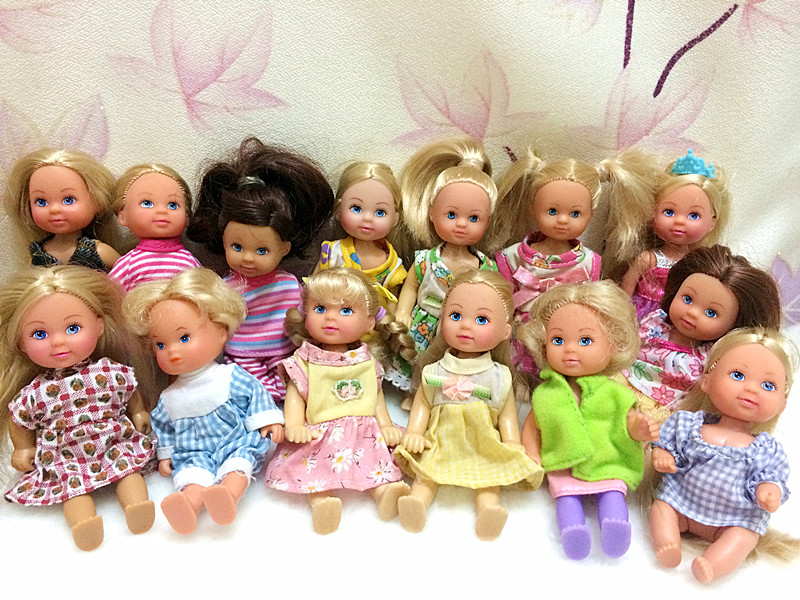 O for U 5 Pieces/lot HOT SALE Original SIMBA Kelly Dolls EVI Cute Baby Doll Kids Gift Mixed Styles Mini Simba Dolls 12cm Toy