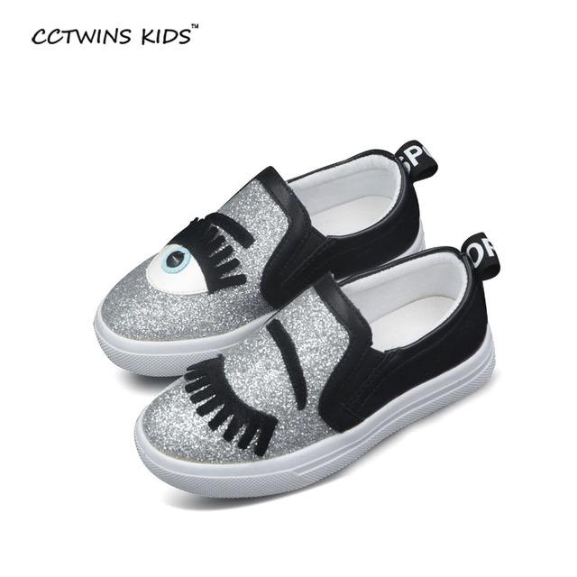 CCTWINS CRIANÇAS primavera moda infantil sneaker crianças sapata do esporte do bebê flats marca menino menina sapato sneaker bebe shoes rosa de ouro brilhar
