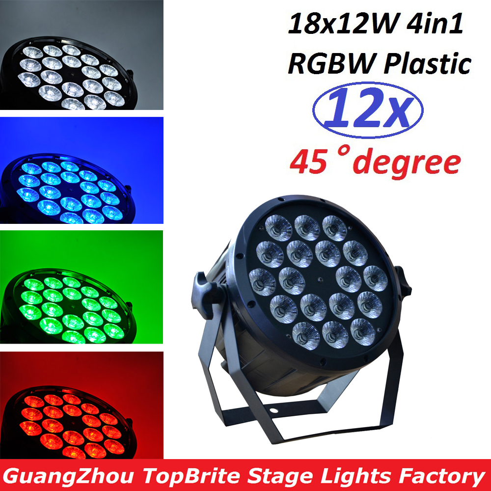 LED Par 18X12W RGBW DMX Flat Par Light LED Stage Light DMX Controller Par LED Parofessional