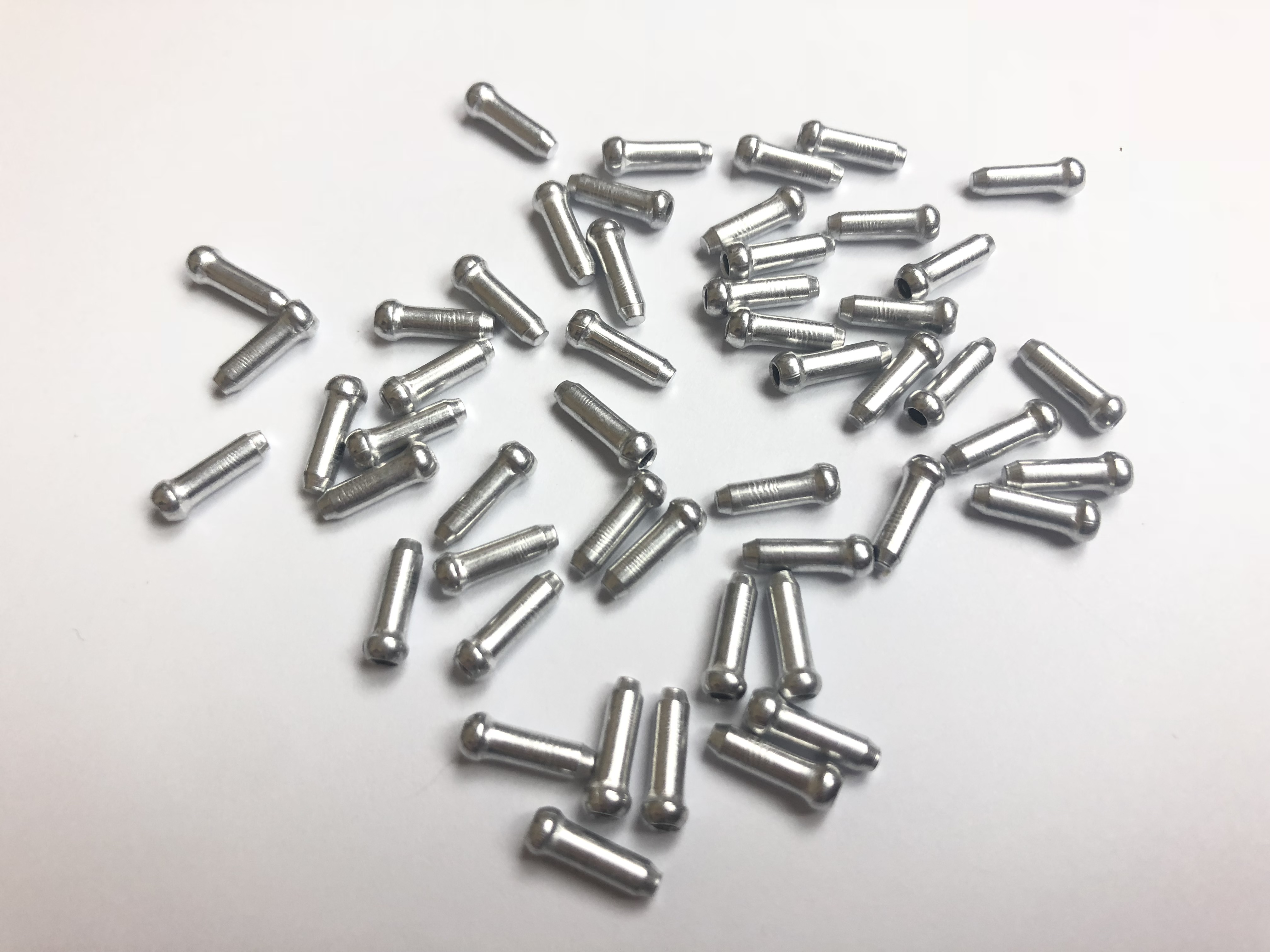 100x Bicycle Bike Shifter Brake Cable Tips Caps End Crimp Silver AD
