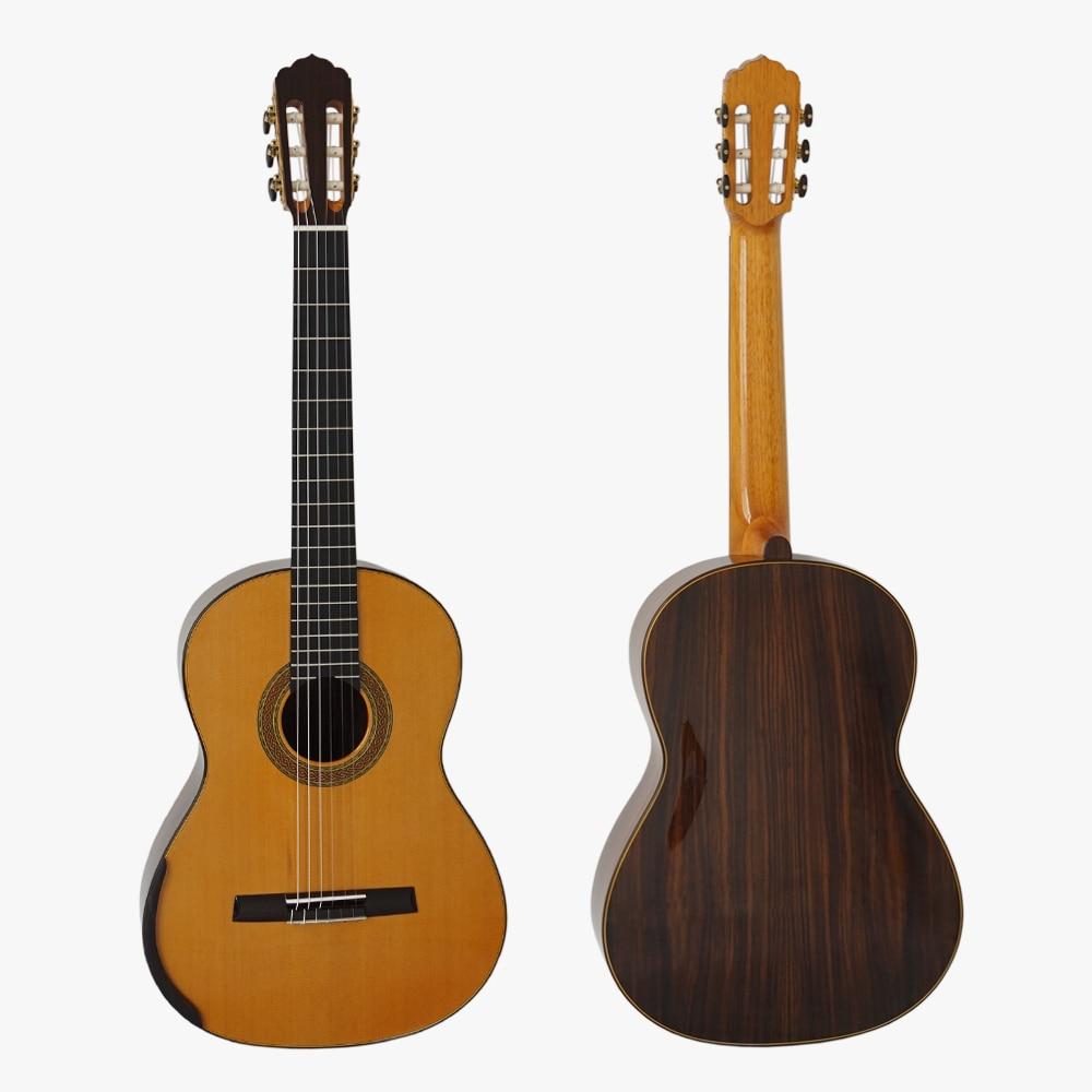 Master level handmade guitar solid cedar top lattice sound for Level master