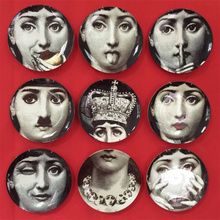 8 inch Piero Italy Fornasetti decorative hanging plate plate plate decoration of ceramic art collection can be customized vibration of orthotropic rectangular plate