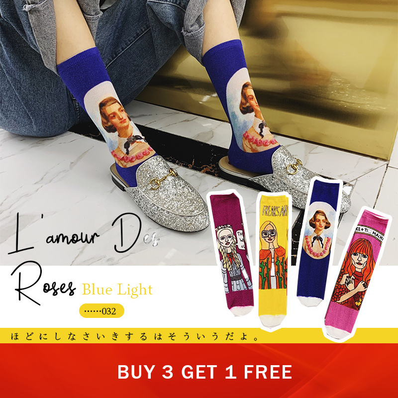 Sp&City 2019 New Arrival Women Patterned Cotton Coloed Socks Vintage Art Casual Cool Socks High Quality Funny Breathable Sox