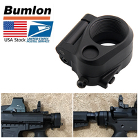 Tactical AR Folding Stock Adapter Airsoft Hunting Accessory For M16 M4 SR25 Series GBB AEG 2