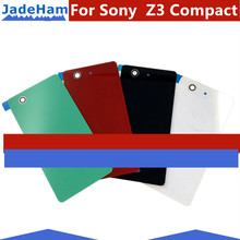 1 piece For Sony Xperia Z3 Compact Mini D5803 D5833 Back Glass Battery Cover Door Rear Housing Case Panel