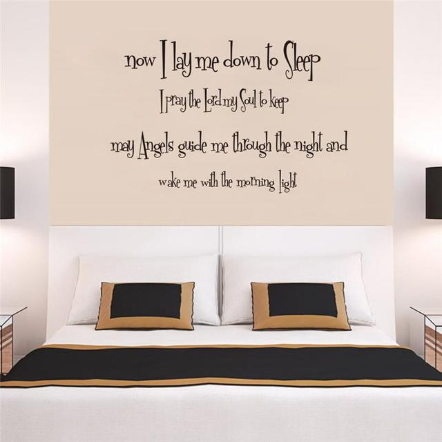 Quotes God With You Wall Art Bed Room Decor Diy Vinyl Stickers Bible