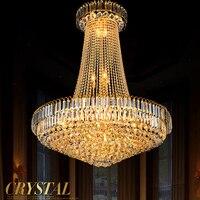 Led Crystal Lustres Chandelier Hotel Villa Livingroom Diningroom Gold Crystal Chandeliers Decorative Candle Chandelier Lights