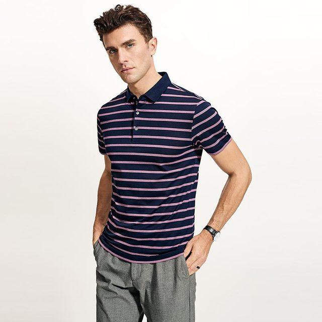 2019 Nuovi Uomini di Alta Qualità T Shirt di Seta degli uomini Breve maglietta del manicotto di Estate di Seta Uomo t shirt di Cotone della banda di sesso maschile t shirt - 5