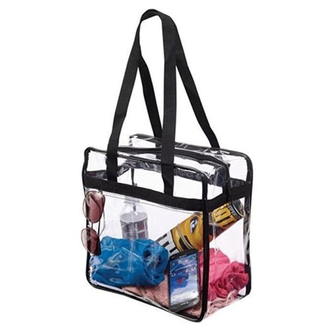 Cocode Transpa Bags Women Clear Bag Shoulder Square Waterproof Crossbody Lady Messenger Black Sling