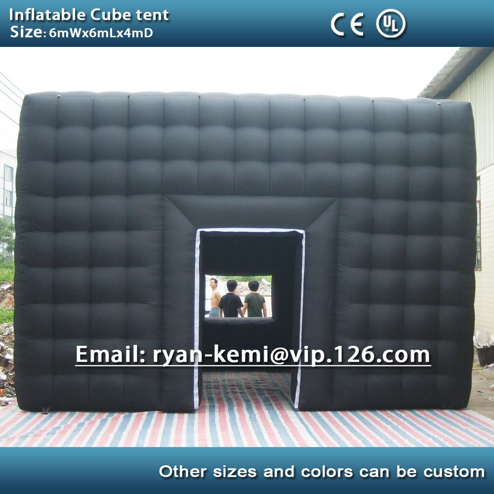 6m black inflatable cube tent outdoor inflatable party tent inflatable tent china large inflatable event tent цены онлайн