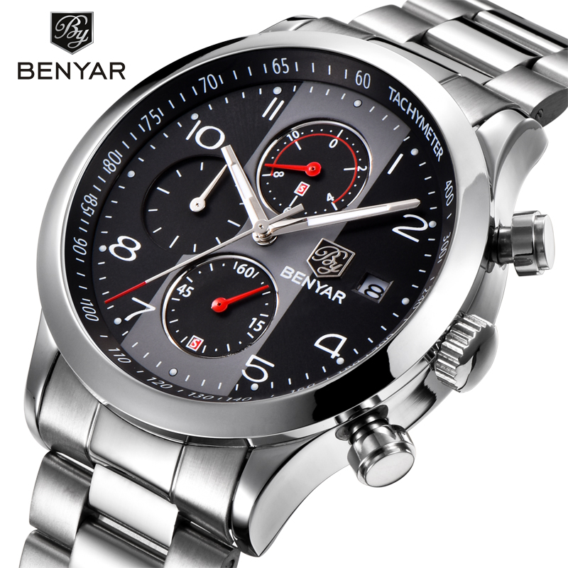 BENYAR 2018 Top Brand Men s Watch Waterproof Date Clock Male Sports Watches  Men Quartz Casual Wrist Watch Relogio Masculino 8be76ecd383