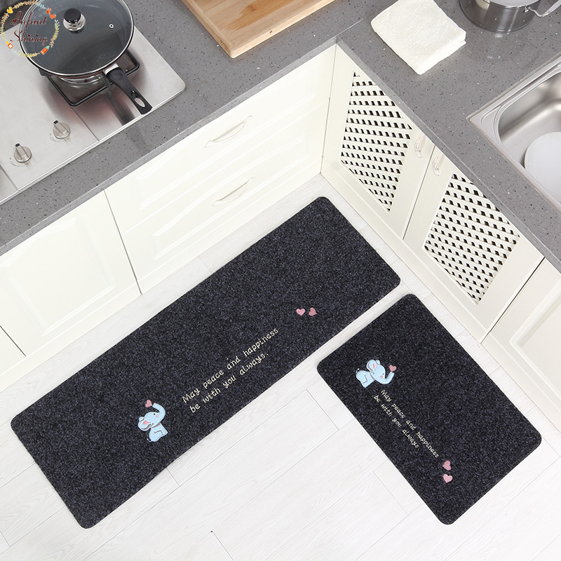 US $15.59 63% OFF|Infant Shining 2PCS Kitchen Mats Striped Carpet Rugs  Cartoon Non slip Mat Door Bathroom Water Washable Carpet-in Mat from Home &  ...
