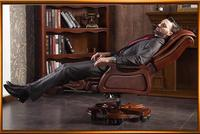 Boss chair leather massage reclining double cushion computer chair home body high back office chair..