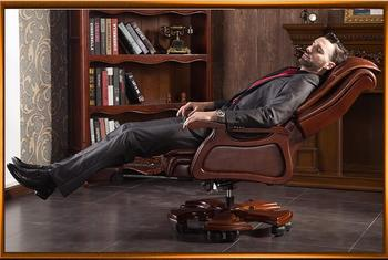Boss chair leather massage reclining double cushion computer chair home body high back office chair.. leather boss chair home office chair back reclining massage computer chair office chair swivel chair