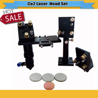 Conjunto cabeça lase CO2 laser reflexivo espelho Mo 25mm focal da lente 20mm para co2 máquina laser gravadora lens machine lens 20mm lens for co2 -