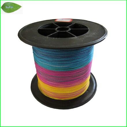 цена на Free shipping & brand New!  F1000 1000m High Quality Multi-color Fishing Line fishing braided line PE line