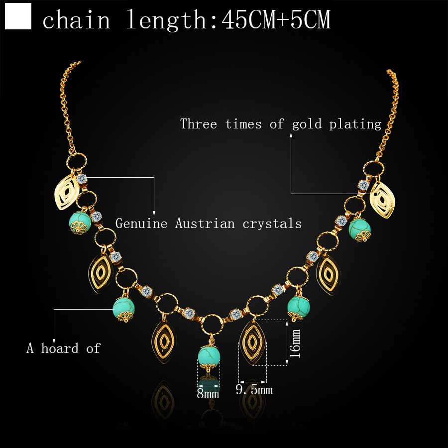 ERLUER choker necklace design dubai gold Color fashion charm chain calaite bead crystal handmade necklaces for women gifts